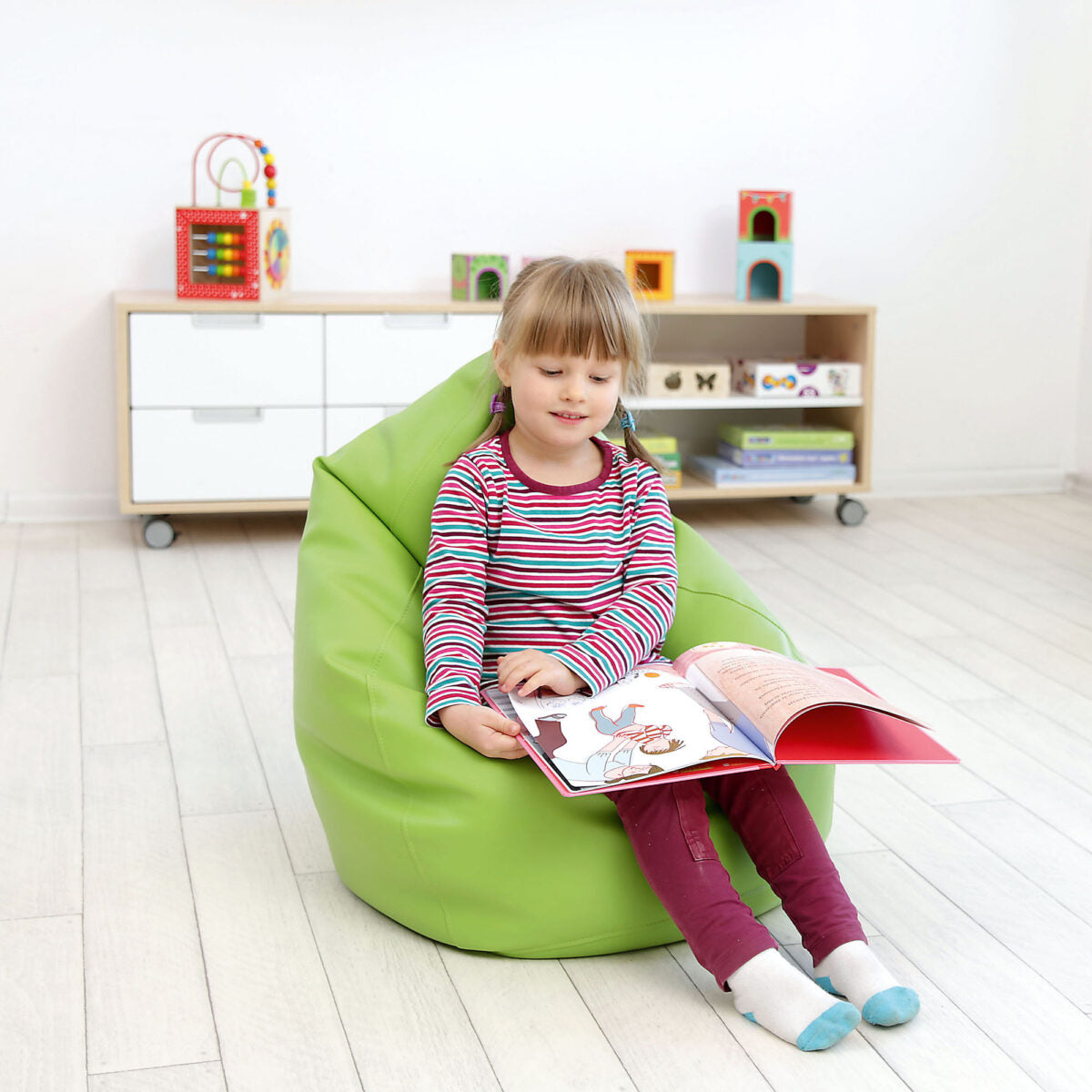 Children's Green Bean Bag, Furniture by Low Cost Gifts