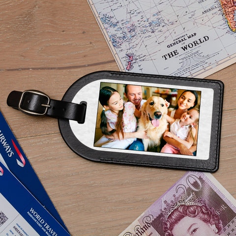Personalise Faux Leather Luggage Tag - Add a Photo