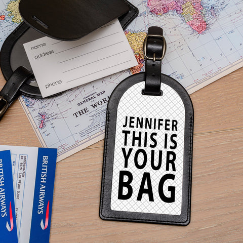 Personalised Faux Leather Luggage Tag - Your Bag