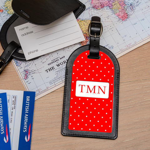 Luggage Tag - Initials choice of colours