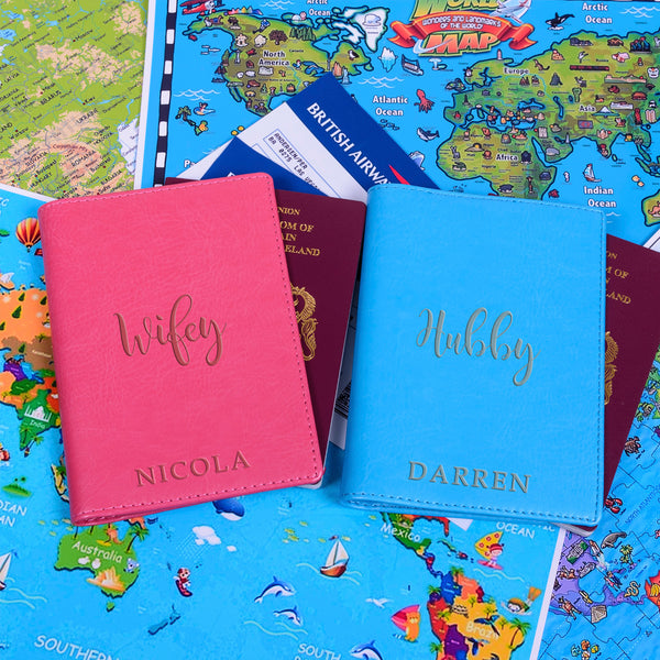 Wifey/Hubby Passport Holders