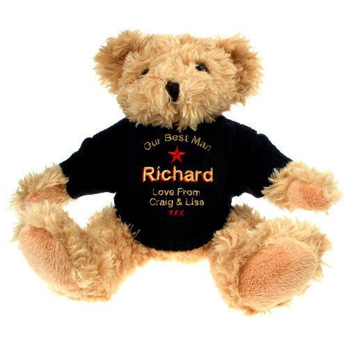 Personalised Best Man Teddy Bear, Toys & Games by Gifts24-7