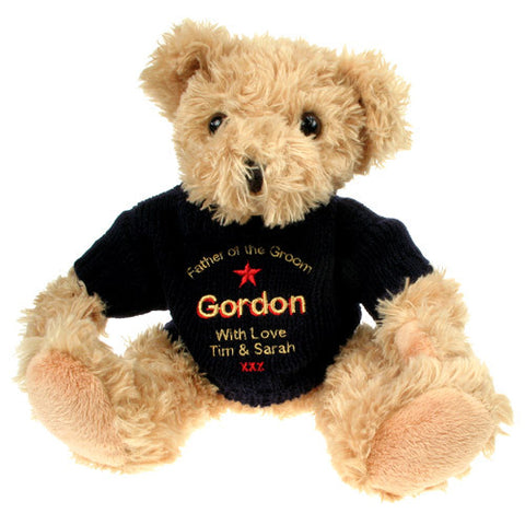 Personalised Father of the Groom Teddy Bear - Shane Todd Gifts UK