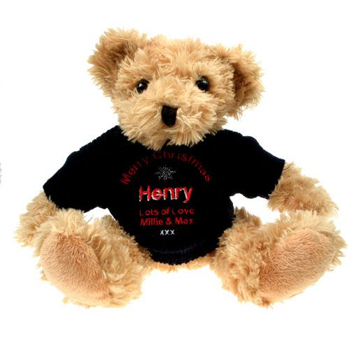 Personalised Light Brown Teddy Bear: Christmas, Gift Giving by Gifts24-7