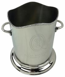 Nickel Plated Single Bottle Champagne Bucket 22.5cm