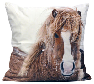 Winter Pony Cushion 45cm