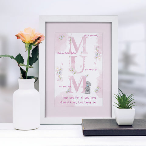 Personalised Me To You MUM A4 Framed Print