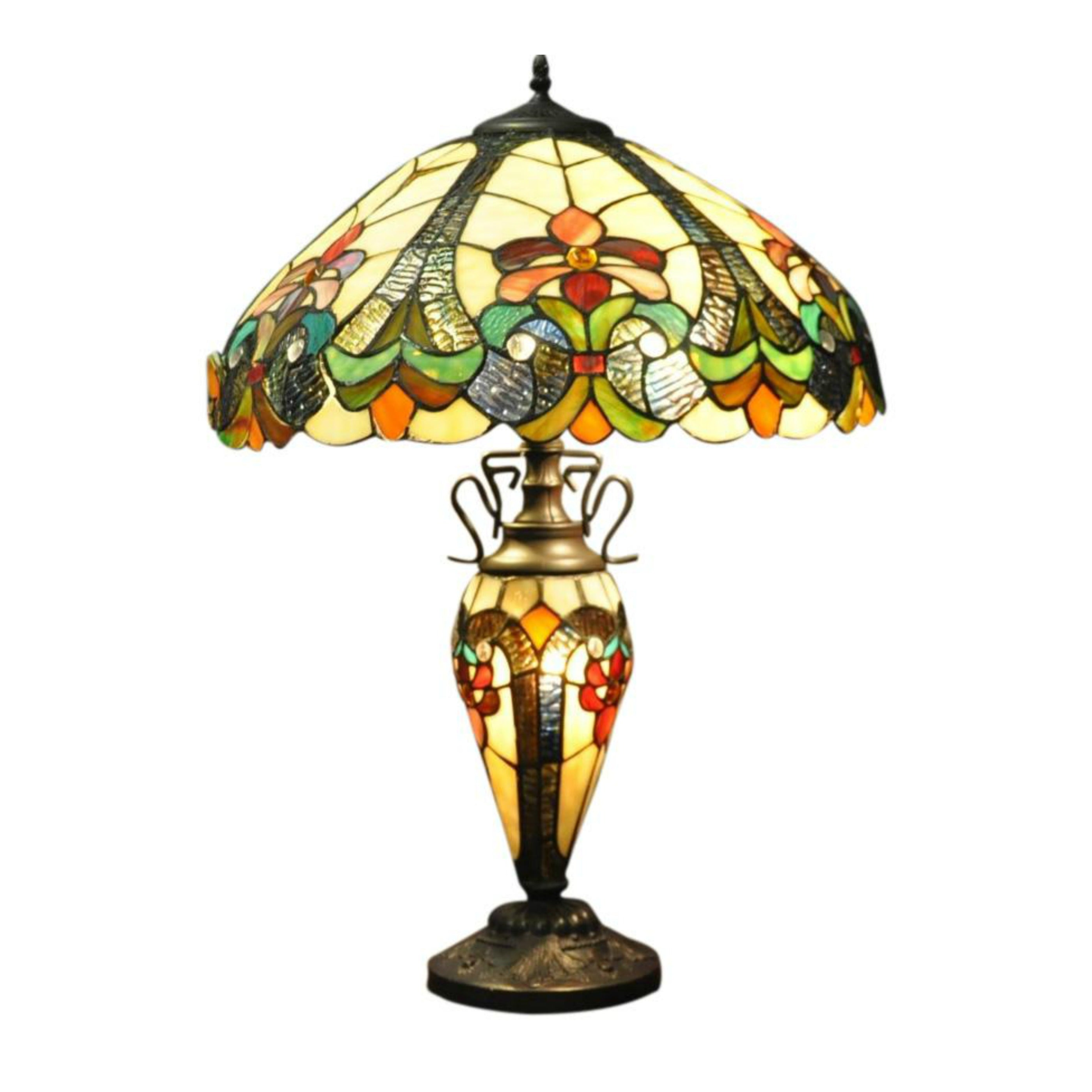 Yellow Double Tiffany Lamp 68cm, Home & Garden by Low Cost Gifts