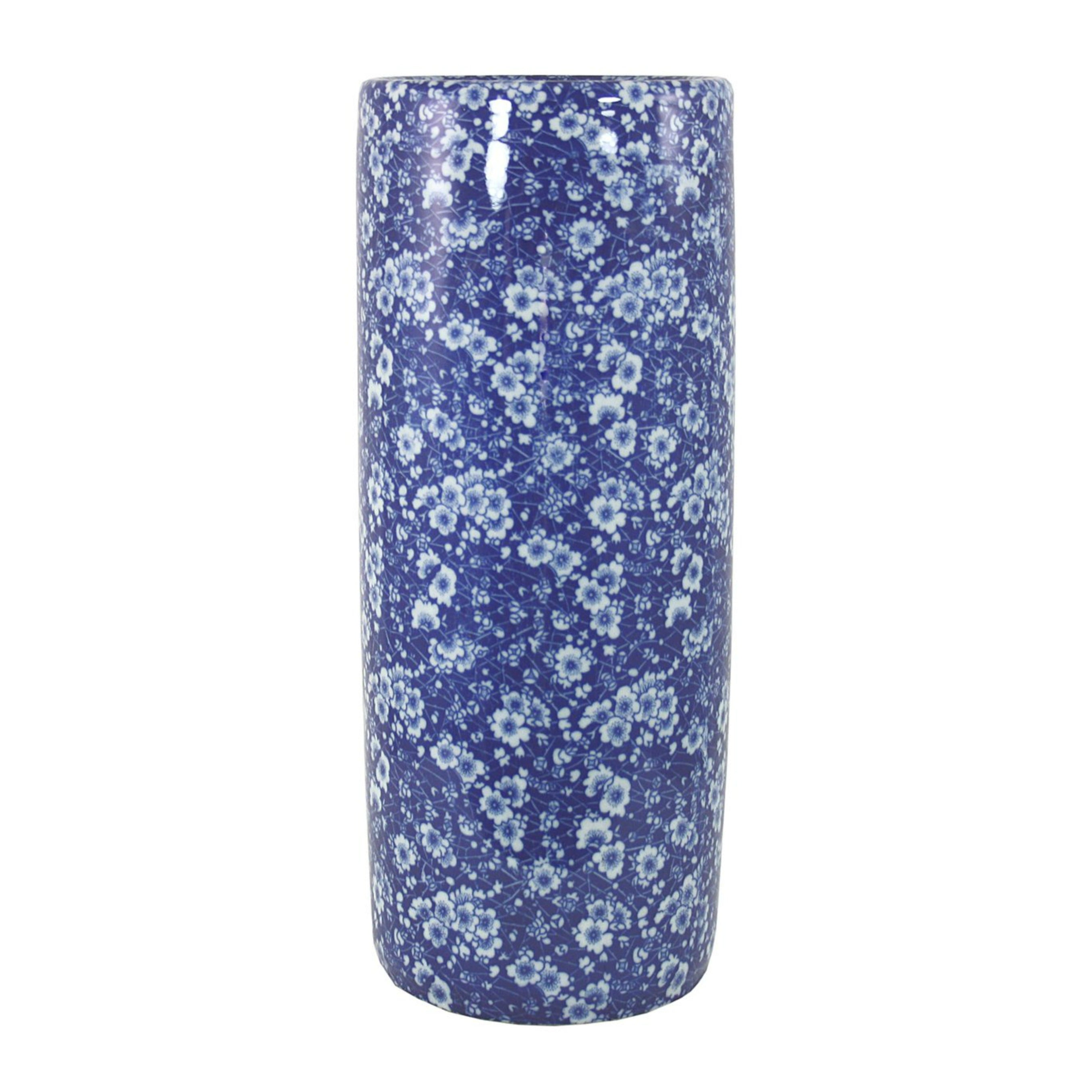 Umbrella Stand, Vintage Blue & White Daisies Design, Parasols & Rain Umbrellas by Low Cost Gifts