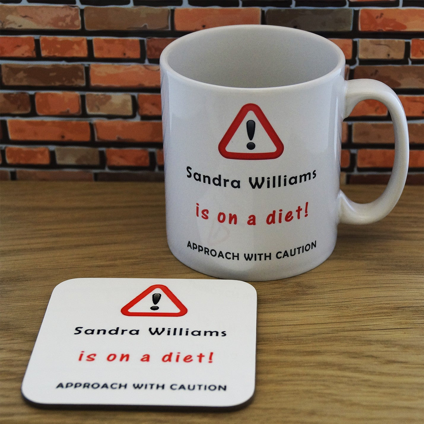 Mug and Coaster Set - Diet, Kitchen & Dining by Gifts24-7
