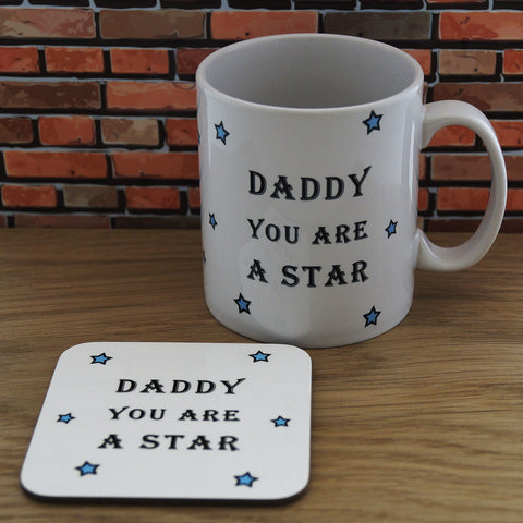 Mug and Coaster Gift Set - Daddy | Gifts24-7.co.uk