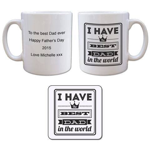 Mug and Coaster Set-Best dad