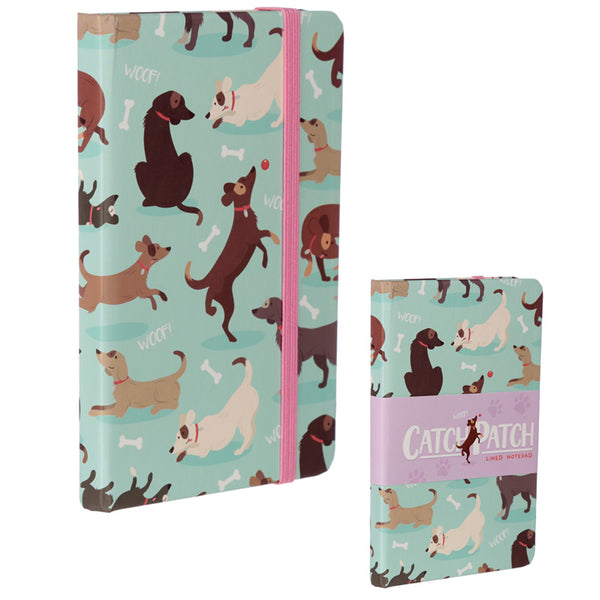 Collectable Hardback Notebook - Catch Patch Dog Design
