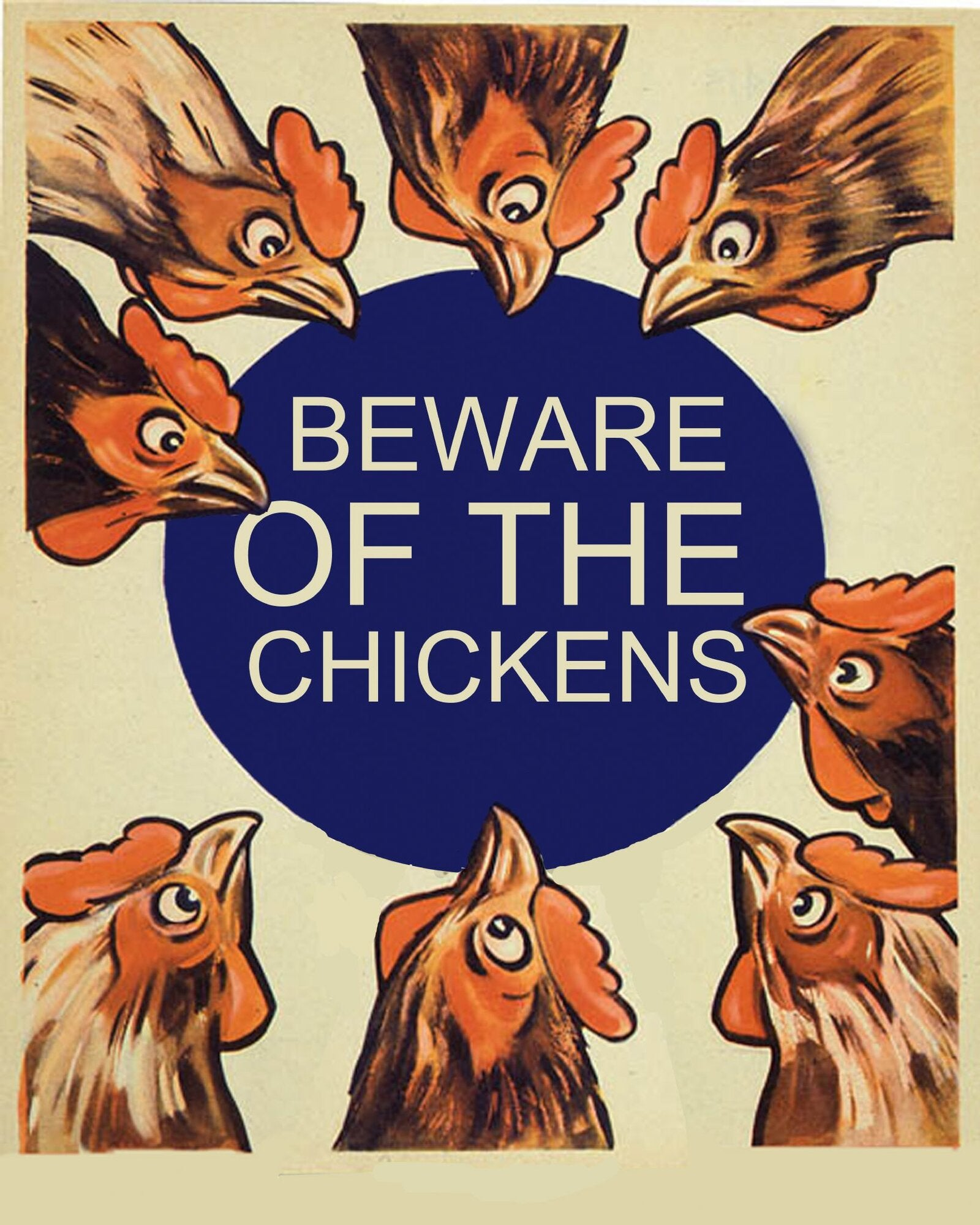 Vintage Metal Sign - Beware Of The Chickens, Business & Industrial by Gifts24-7