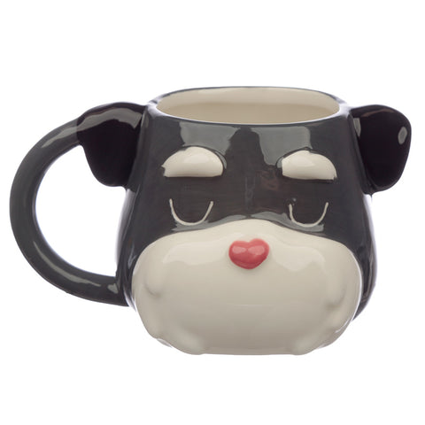 Ceramic Dog Squad Schnauzer Head Collectable Mug