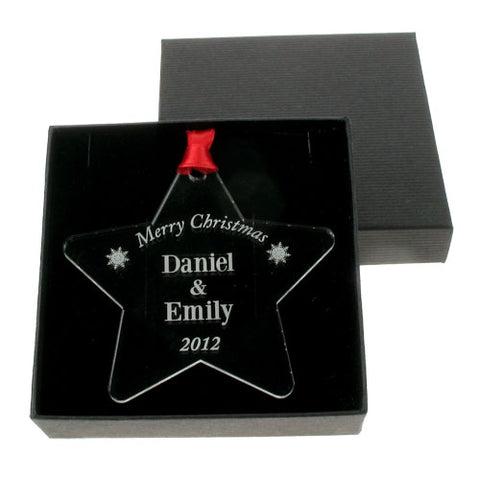 Personalised Christmas Couple Decoration