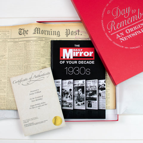Original Newspaper and Decade Book