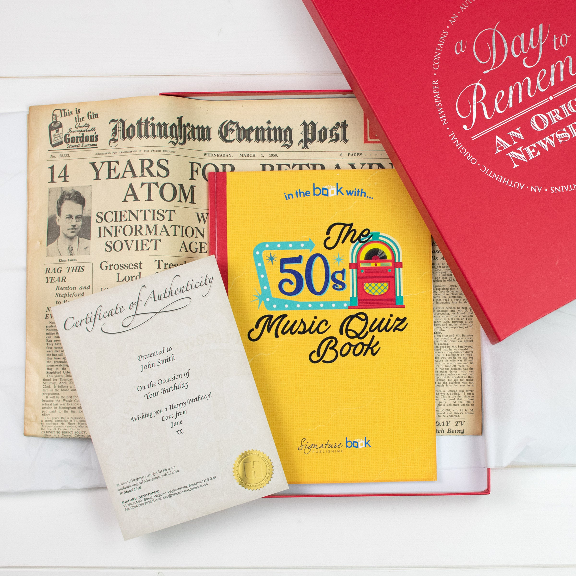 Original Newspaper and Music Quiz Book, Media by Low Cost Gifts