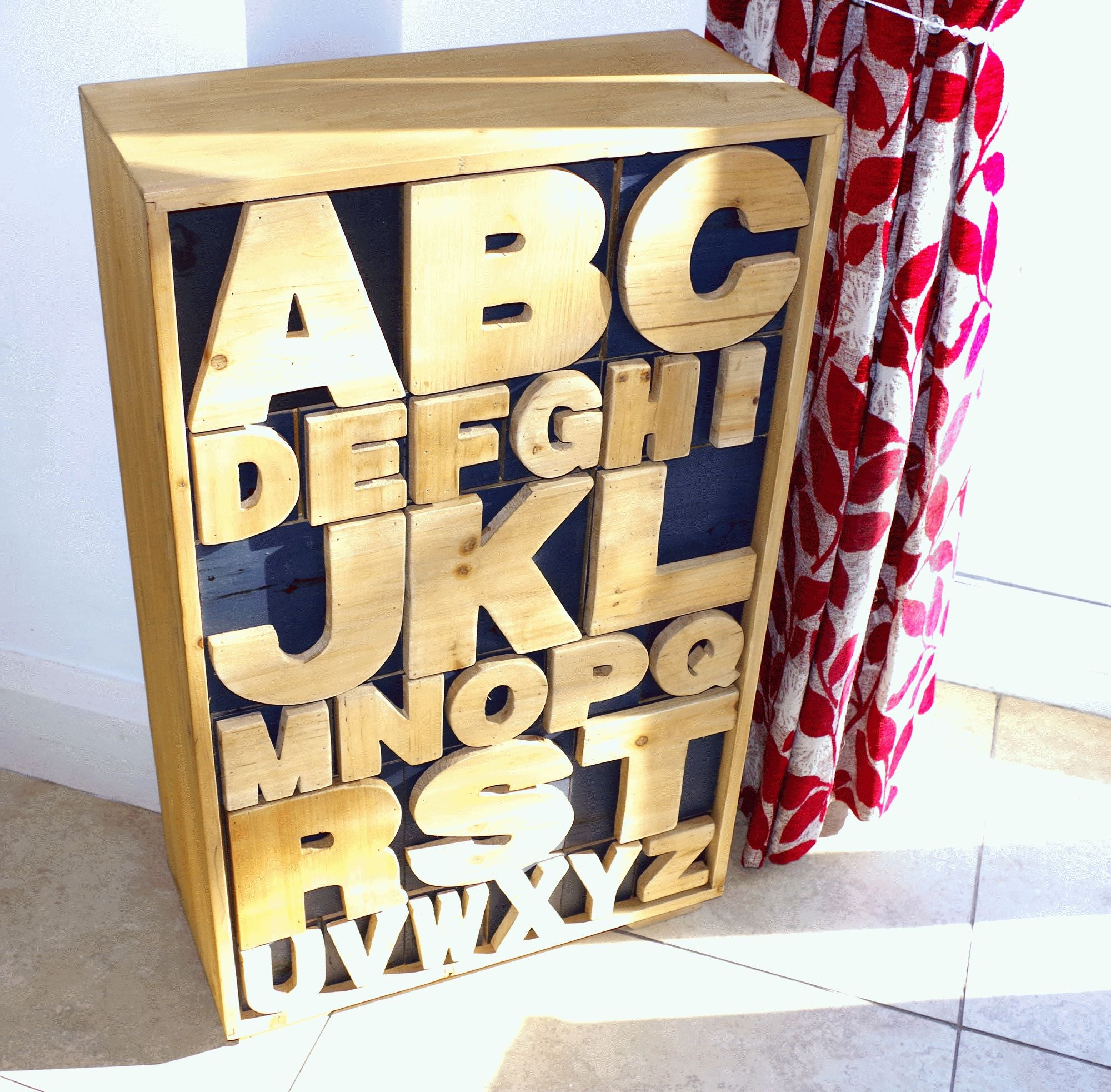 Alphabet Cabinet 54 x 26 x 89cm, Furniture by Low Cost Gifts