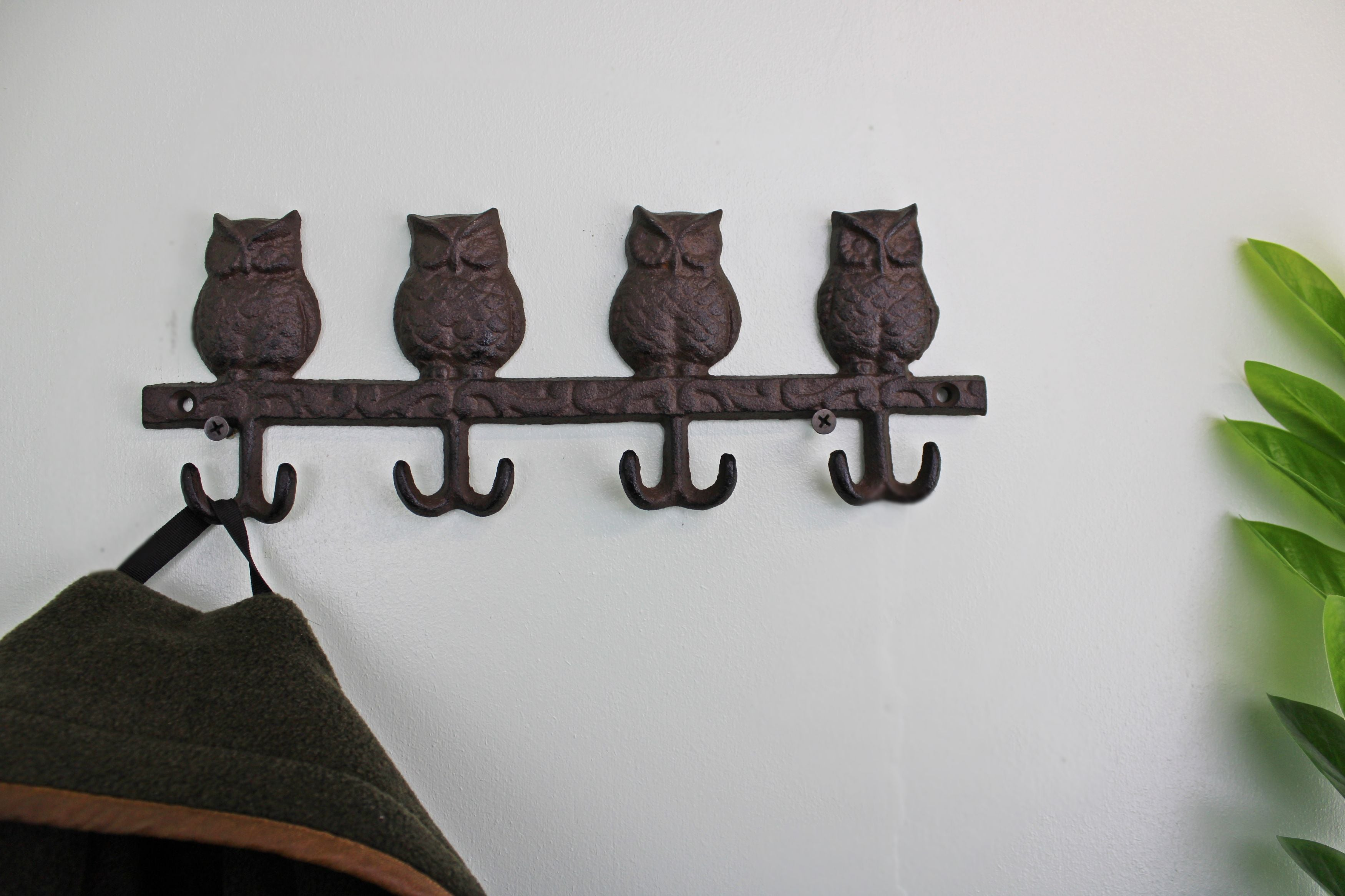 Rustic Cast Iron Wall Hooks, Owls, Clasps & Hooks by Low Cost Gifts