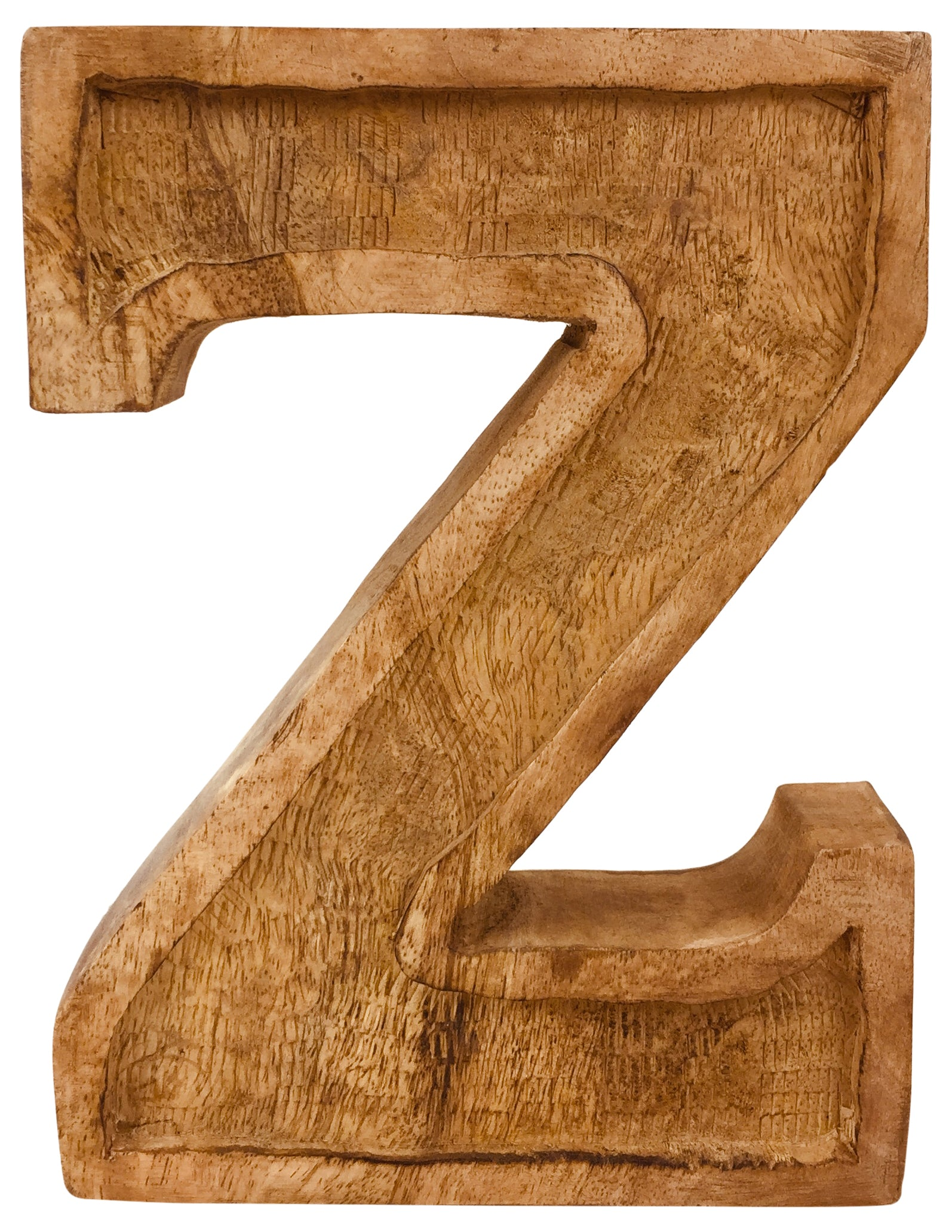 Hand Carved Wooden Embossed Letter Z, Home & Garden by Low Cost Gifts