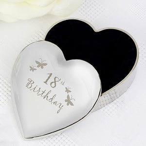 Buy 18th Butterflies Heart Trinket Box