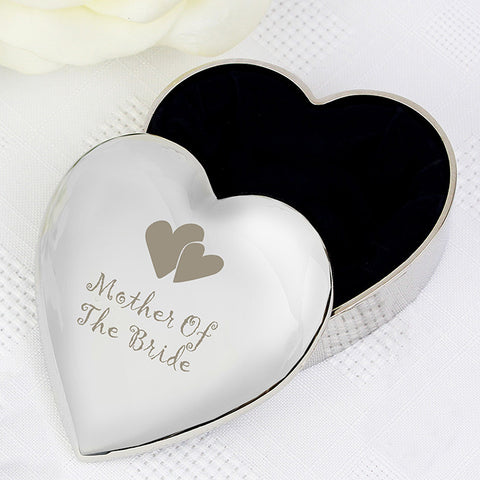 Mother Of Bride  Heart Trinket Box - Shane Todd Gifts UK