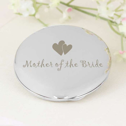 MotHer of Bride Round Compact - Shane Todd Gifts UK