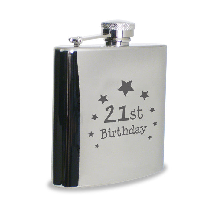 21st Birthday Hip Flask | ShaneToddGifts.co.uk