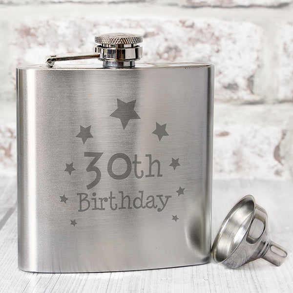 Buy 30th Birthday Hip Flask