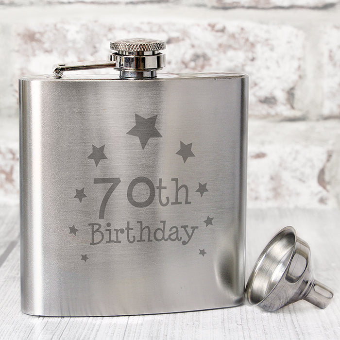 Buy 70th Birthday Hip Flask