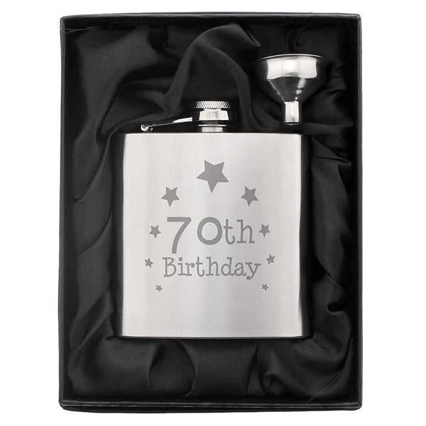 70th-birthday-hip-flask