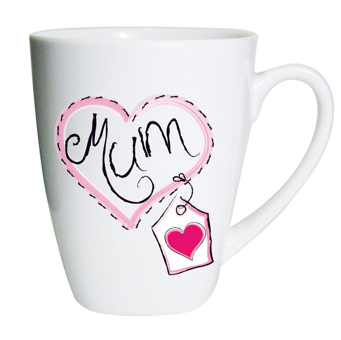 Buy Mum Heart Stitch Latte Mug