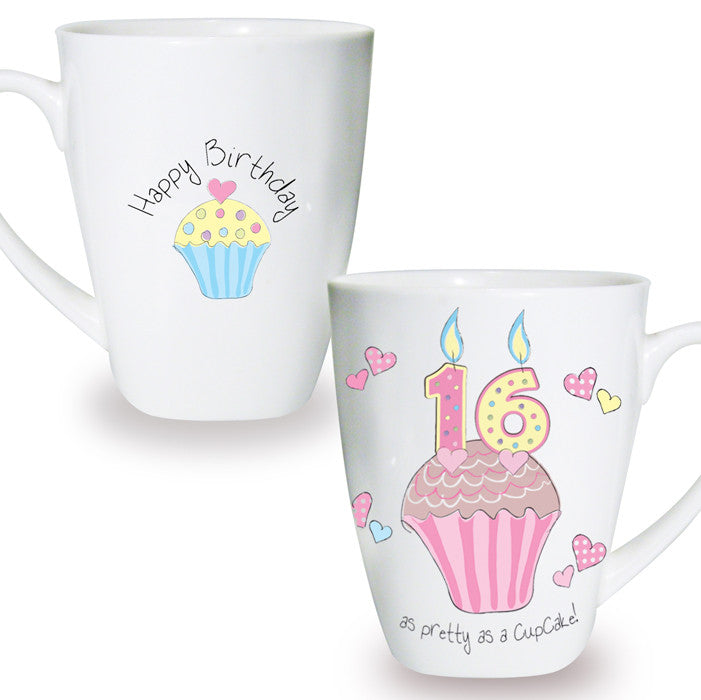 Buy Cupcake 16th Birthday Latte Mug
