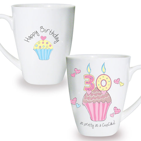Buy Cupcake 30th Birthday Latte Mug