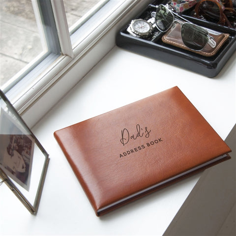 Tan Personalised Address Book | Gifts24-7.co.uk