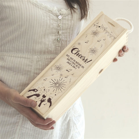 Personalised Cheers! Wine Box