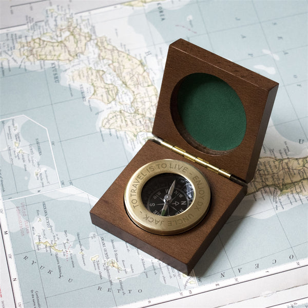 Personalised Brass Compass