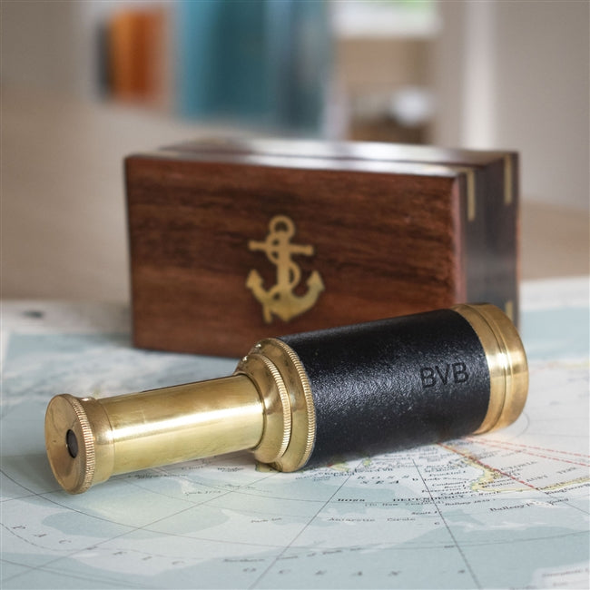 Personalised Brass Telescope, Cameras & Optics by Low Cost Gifts