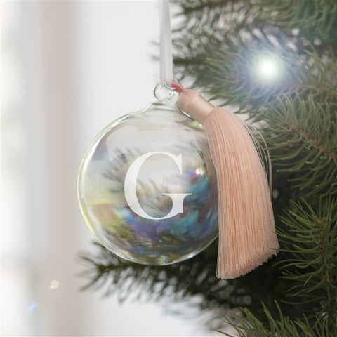 Personalised Initial Glass Bauble