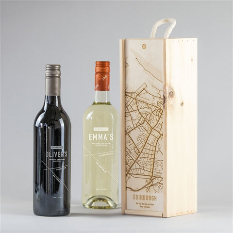 Coordinate Wine in Wooden Box