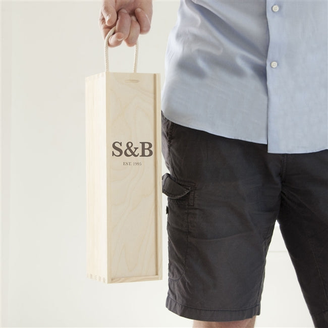 Initials Wine Box, Kitchen & Dining by Gifts24-7