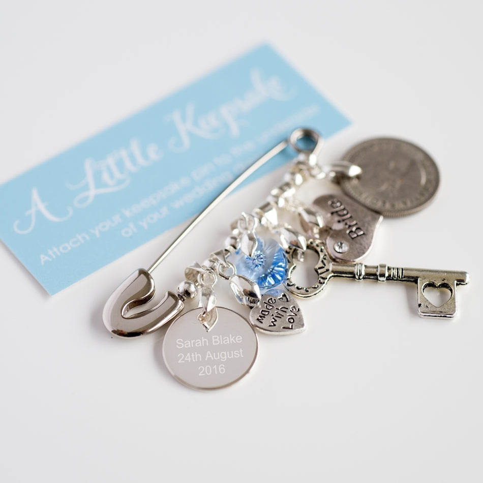 Personalised Wedding Bridal Pin, Arts & Crafts by Gifts24-7