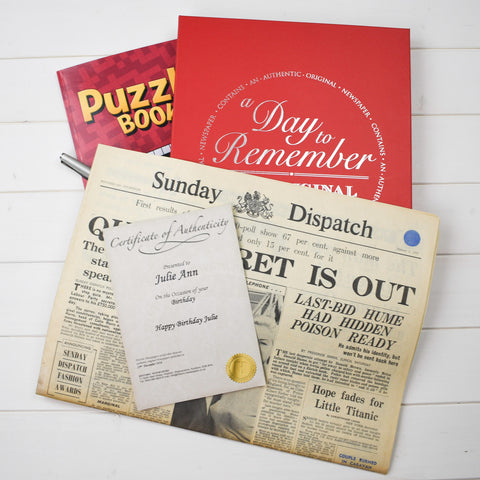 Original Newspaper with Puzzle Book
