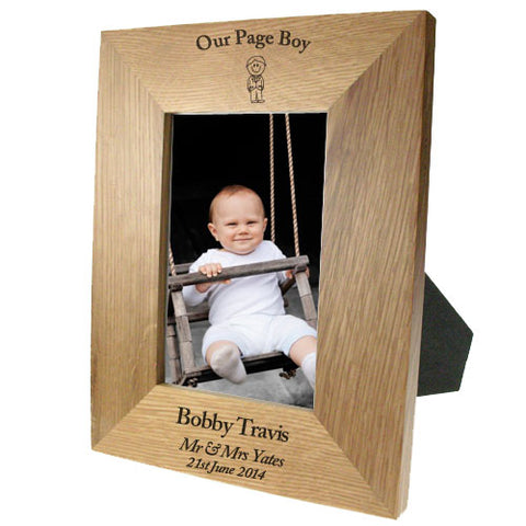 Portrait Wooden Oak 4x6 Frame: Pageboy