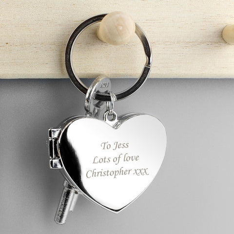 Buy Personalised Heart Photoframe Keyring