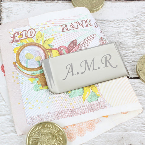 Buy Personalised Silver Plated Money Clip
