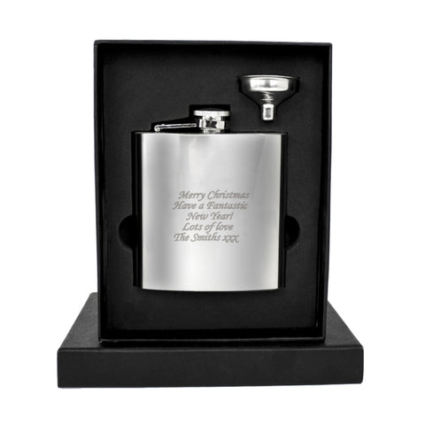 Buy Personalised Boxed Stainless Steel Hip Flask
