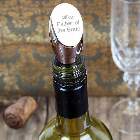 Personalised Contemporary Wine Stopper