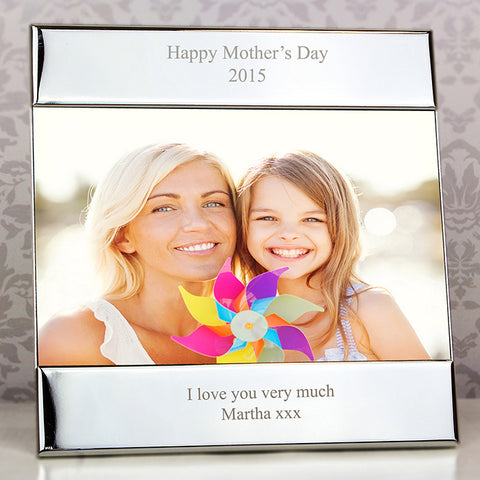 Buy Personalised Silver Square 6x4 Photo Frame